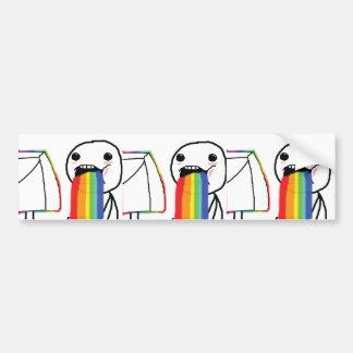 Puking Rainbows Car Bumper Sticker