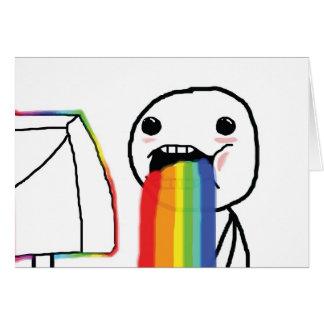 Puking Rainbows Greeting Cards
