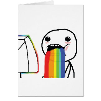 Puking Rainbows Cards