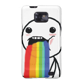 Puking Rainbows Galaxy S2 Covers