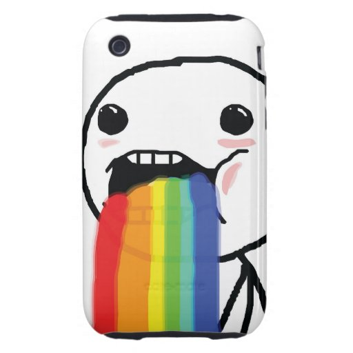 Puking Rainbows iPhone 3 Tough Cover