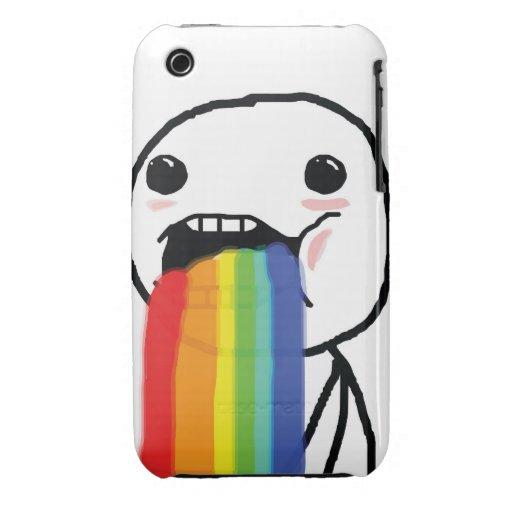 Puking Rainbows Case-Mate iPhone 3 Cases
