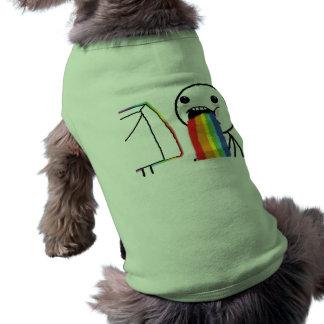 Puking Rainbows Dog Tee Shirt