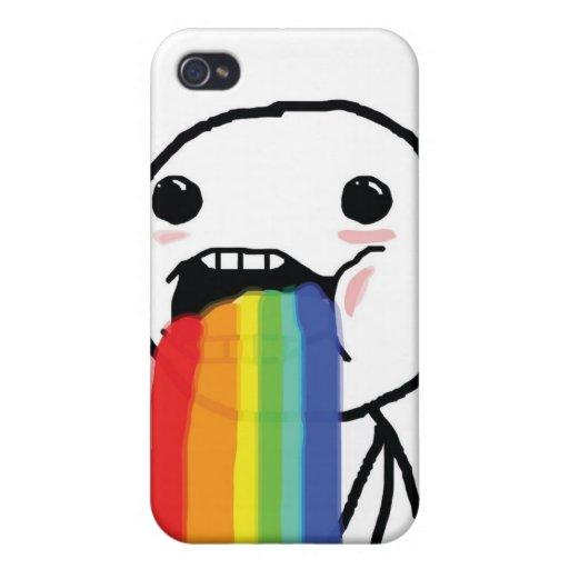 Puking Rainbows iPhone 4 Cover