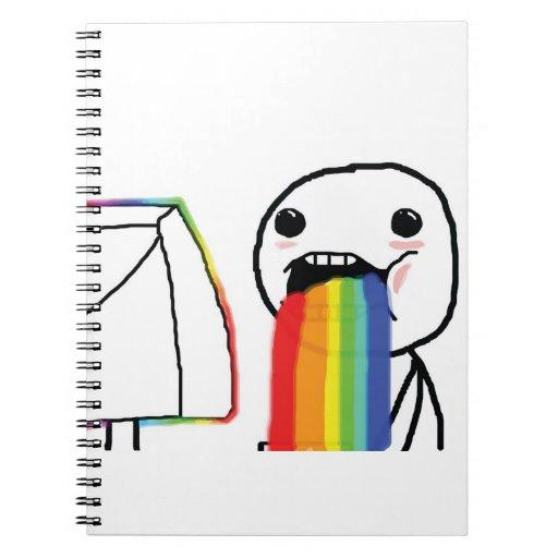 Puking Rainbows - Notebook