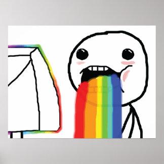 Puking Rainbows Poster