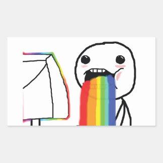 Puking Rainbows Rectangular Sticker
