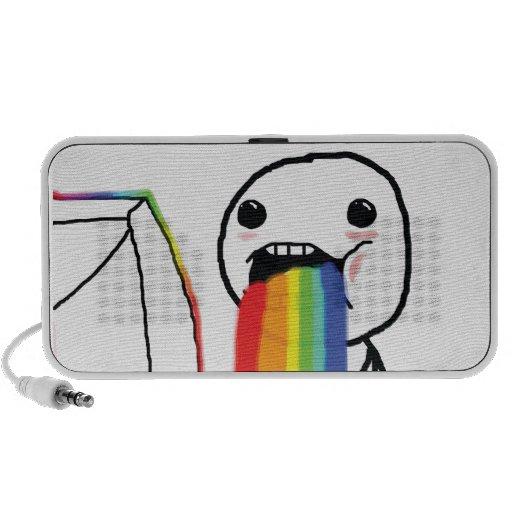 Puking Rainbows Mp3 Speaker
