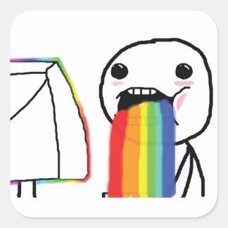 Puking Rainbows Square Sticker