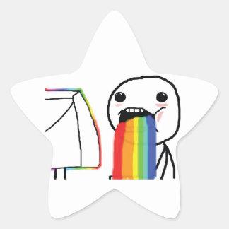 Puking Rainbows Star Sticker