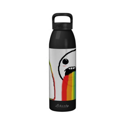 Puking Rainbows Water Bottle