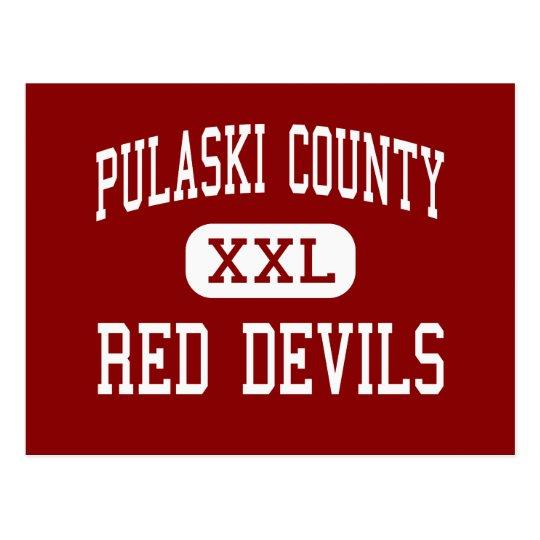 Pulaski County - Red Devils - Hawkinsville Postcard