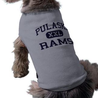 Pulaski - Rams - High School - Milwaukee Wisconsin Pet Tee Shirt
