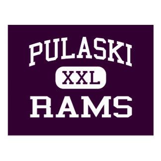 Pulaski - Rams - High School - Milwaukee Wisconsin Postcard