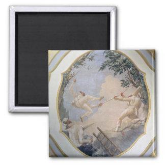 Pulcinella on a Swing, 1797 (fresco) Magnet