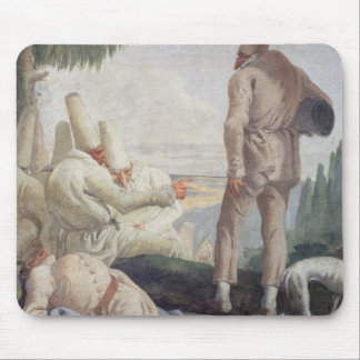 Pulcinella on Holiday Mouse Mat