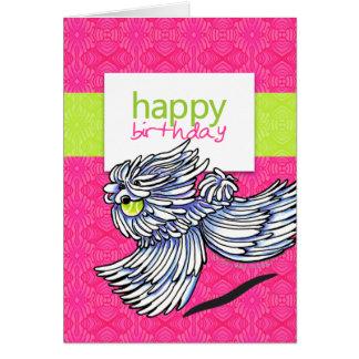 Puli Komondor Strawberry Kiwi Happy Birthday Card