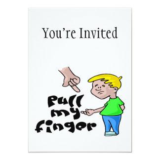Pull My Finger 13 Cm X 18 Cm Invitation Card