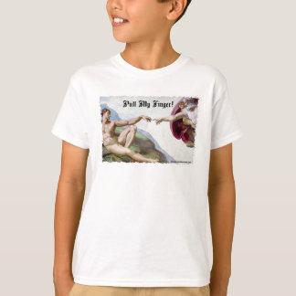 Pull My Finger - Michelangelo Creation Fart Humor T-Shirt