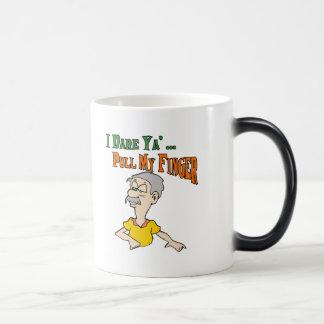 Pull My Finger 11 Oz Magic Heat Color-Changing Coffee Mug
