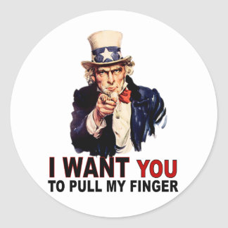 Pull My Finger Stickers