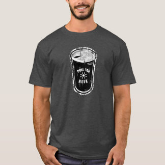 Pull tab beer can Black & White Distressed Logo T-Shirt