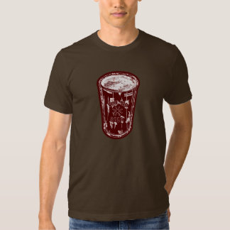 Pull tab beer can Brick Red white Distressed Logo Shirt