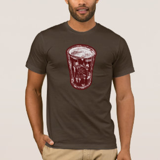 Pull tab beer can Brick Red white Distressed Logo T-Shirt