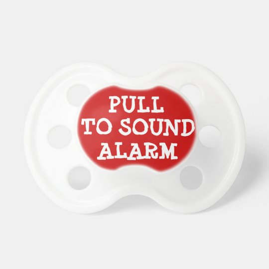 Pull to Sound Alarm Funny Baby Pacifier