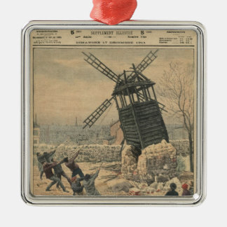 Pulling down one of the last windmills christmas ornament