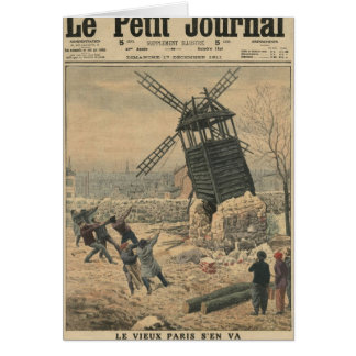 Pulling down one of the last windmills greeting card