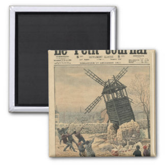 Pulling down one of the last windmills square magnet