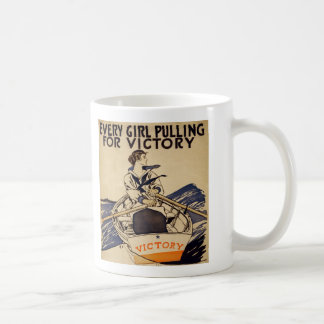PULLING FOR VICTORY CLASSIC WHITE COFFEE MUG