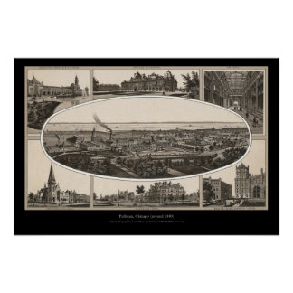 Pullman, Chicago (around 1880) Poster