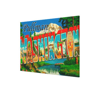 Pullman, Washington - Large Letter Scenes Canvas Print