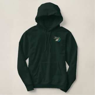 Pullover hoodie in forest green