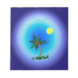 Pulm tree notepad