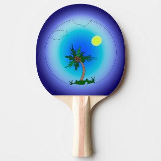 Pulm tree ping pong paddle