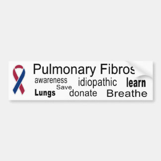 Pulmonary Fibrosis Awareness Bumper Sticker