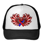 Pulmonary Fibrosis Awareness Heart Wings.png Trucker Hat