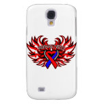 Pulmonary Fibrosis Awareness Heart Wings.png Galaxy S4 Cover