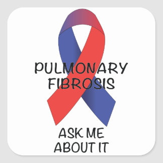 Pulmonary Fibrosis Square Sticker