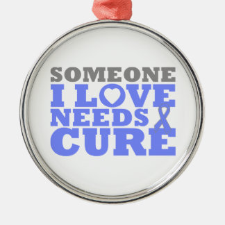Pulmonary Hypertension Someone I Love Needs A Cure Silver-Colored Round Decoration