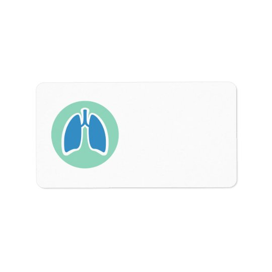 Pulmonology or pulmonologist lung logo round label