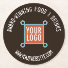 Pulpboard Custom Bar Coasters Bulk Company Logo