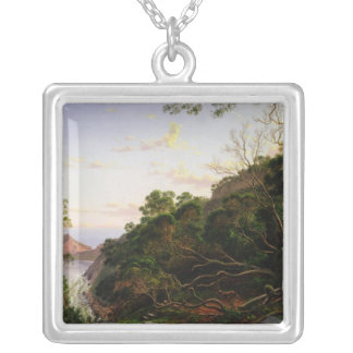 Pulpit Rock near Melbourne Silver Plated Necklace