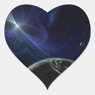 Pulsar Planet Alien Space Art Heart Sticker