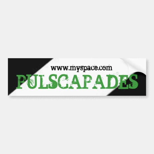 PULSCAPADES STICKER BUMPER STICKER