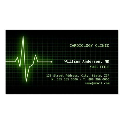 Pulse Heartbeat ECG business card