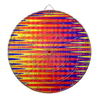 Pulse in bright abstract colours. dartboard